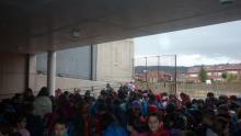 Entrada de alumnos de Primaria